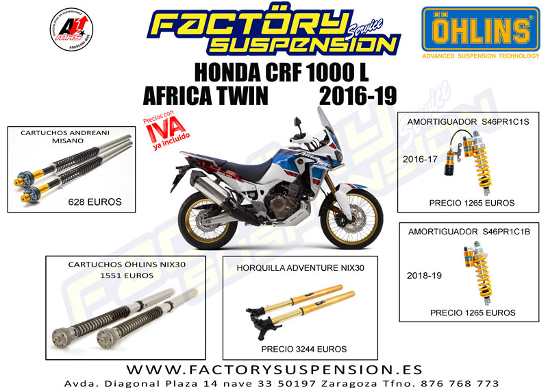 Factory Suspension AFRICA TWIN 2016 19